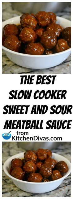 Slow Cooker Sweet and Sour Meatballs Ken and his buddies play poker once a month and these meatballs are always a huge hit. Sweet and Sour Meatballs are so easy to make. If we have time we make our Perfect Meatballs and if not we buy a large bag of frozen Best Slow Cooker, Crock Pot Slow Cooker, Crock Pot Cooking, Slow Cooker Recipes, Slow Cooker Appetizers, Cooking Oil, Meat Recipes, Appetizer Recipes, Cooking Recipes