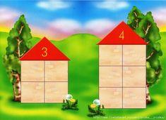 Изучаем цифры с помощью развивающей игры «Числовые домики»!