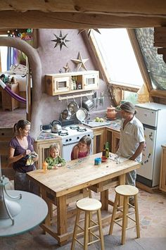 I think this is one of the montana earthship kitchens.