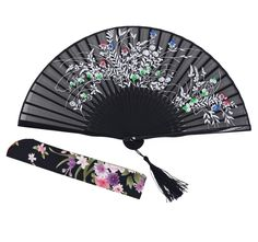 Amajiji® Chinese Japanese Folding Hand Fan for women,Vintage Retro Style 8.27' (21CM) Bamboo Wood Silk Hand Fans (CL-01) * Details can be found by clicking on the image.