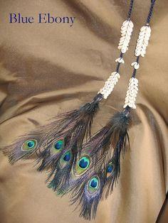 Tribal Fusion ATS Cowry Hair Falls Blue by NhazamaTribalDesigns, $36.99