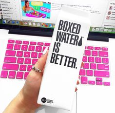 cause boxed water is better ♡