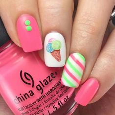 Expand fashion to your nails with nail art designs. Donned by fashion-forward stars, these kinds of nail designs will incorporate instant charm to your apparel. Spring Nail Art, Spring Nails, Summer Nails, Fall Nails, Holiday Nails, Nails For Kids, Girls Nails, Little Girl Nails, Diy Nail Designs