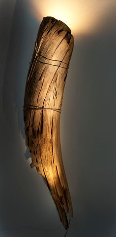 I am SO going to make one of these some day! Unique wall sconce using a reclaimed fence post <3 love