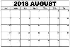 august 2018 calendar landscape 2018 calendar excel august calendar 2018 printable calendar blank