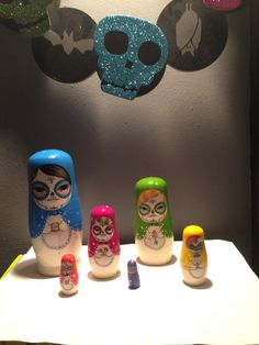Day Of The Dead Babushka/Nesting Dolls/matryoshka dolls