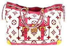 ae3327faa1a4f7 Louis Vuitton Monogram Eponge Cabas Beach White/ Pink Beach Bag on Sale, 67%