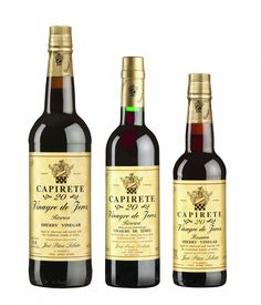 Producer: José Páez Lobato. Protected Designation of Origin: Sherry Vinegar – Reserve. Brand: CAPIRETE 20. Acidity: 8 %. Variety of grape: Palomino. Aging: 20 years old. Cata: Has an intense dark mahogany colour with shiny amber-like highlights. This type of vinegar is notable for its powerful aroma and rich variety of nuances: vanilla, dried fruits and wine-soaked wood.   www.sherryvinegar.com