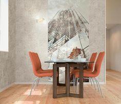 Idei de amenajare cu tapet italian Home 2 Italian Home, Dining Table, Flooring, Wallpaper, Modern, Furniture, Design, Home Decor, Collection
