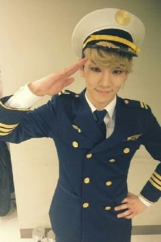 Key, in a uniform for a musical 'CATCH ME IF YOU CAN'