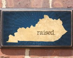 Antiqued Finish Kentucky RAISED Vintage Style Plaque/Sign Decorative & Custom Color