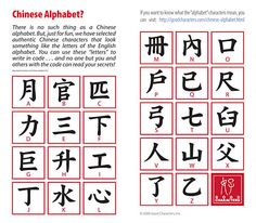Chinese Alphabet Letters Printable