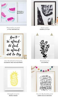 Gallery walls, ideas for hanging photos, wall art displays Art Diy, Diy Wall Art, Framed Wall Art, Wall Decor, Free Printable Art, Free Printables, Printable Templates, Free Prints, Wall Prints