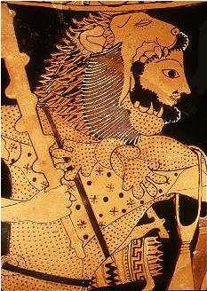 Lion de Némée . Un des exploits d'Hercule.