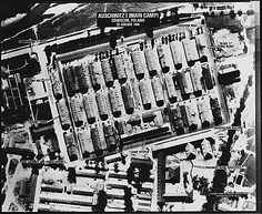 Aerial View of Auschwitz    Auschwitz I (Main Camp) - Oswiecim, Poland, 08/25/1944