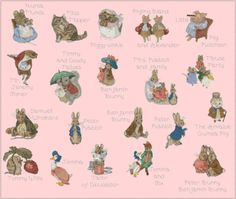 See: http://en.wikipedia.org/wiki/Beatrix_Potter  This is a CROSS-STITCH PATTERN of the shop LoveMyStitch!  After 5-10 minutes of your payment, youll receive a email with a link to download your cross stitch patterns immediately.  You can download the following files (which you can print in the A4 format): - a Pdf file with DMC colors map; - a Pdf file containing the Floss Usage Summary; - a Pdf pattern with black and white symbols; - a Pdf pattern with symbols over colors...