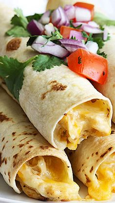 Cream Cheese Chicken Taquitos - Crockpot