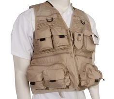 Master sportsman fishing life vest taupe for Bass fishing life jacket