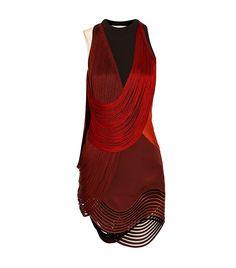 Fringed Stretch-Cady Mini Dress via @WhoWhatWear