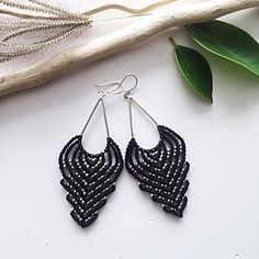 A personal favorite from my Etsy shop https://www.etsy.com/listing/547217943/sterling-silver-macrame-earrings-diy
