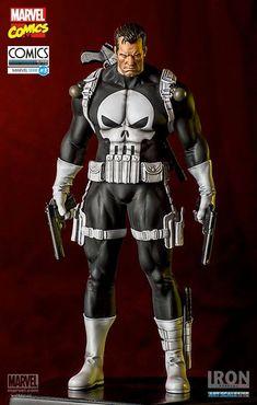 Punisher Marvel Comics Art Scale Iron Studios - Iron Studios 1/10. Figura: Punisher, Linha: Art Scale, Série Marvel Comics.