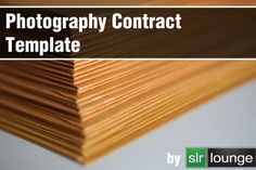 Photography Contract Template, really good detail and with additional ideas to add later