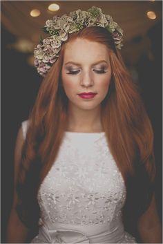 Make up for ginger brides
