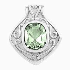 Platinum Antique Cushion Cut Prasiolite (Green Amethyst) Pendant Gems-is-Me. $2110.34. FREE PRIORITY SHIPPING. This item will be gift wrapped in a beautiful gift bag. In addition, a 'gift message' can be added.