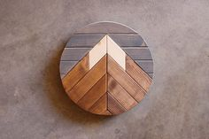 Mountain Wood Art Mountain RangeModern Wood ArtWood Wall