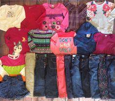 Girl Lot 3T 4T Fall Winter Outfits Jeans Shirts Pants Leggings Jeggings Dresses    eBay
