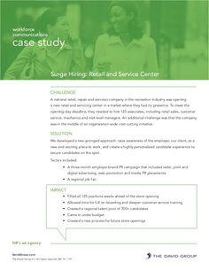 Employer Branding Case Study: Retail and Service Center by N. Robert Johnson, APR via slideshare