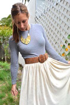 long sleeve, long skirt