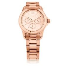 Ladies Multi-Function Watch in Rose Tone Stainless Steel 21st Gifts, Watches Online, Michael Kors Watch, Gold Watch, Rose Gold, Stainless Steel, My Style, Lady, Accessories