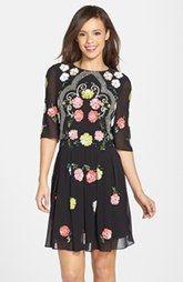 Needle & Thread 'Locket' Floral Sequin Dress