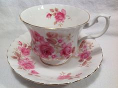 Vintage Royal Albert tea cup and saucer by JoyJoeTreasures on Etsy, $26.00