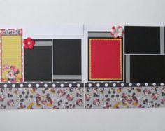 Disney Memories Premade 12x12 Scrapbook Layout by blessedbydesign