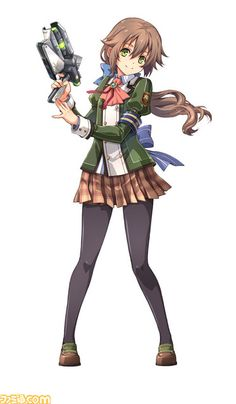 View an image titled 'Towa Herschel Art' in our The Legend of Heroes: Trails of Cold Steel II art gallery featuring official character designs, concept art, and promo pictures. Anime Warrior, Warrior Girl, Kawaii Chibi, Kawaii Anime, Female Character Design, Character Art, Female Characters, Anime Characters, Trails Of Cold Steel