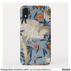 Vintage Retro Cockatoo and Pomegranate Case-Mate iPhone Case