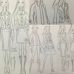 """Fashion sketches from my sketchbook (2006) from my """"Anime/Fashion"""" period"""