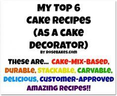 My Top 6 Favorite Cake Recipes Cake Decorating