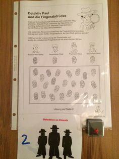 Detektiv-Party Rätsel Nr. 2. Finde den Fingerabdruck. Nach dem erfolgreichen lösen gibts ein kleines Stempelkissen für die Detektive um Fingerabdrücke zu machen