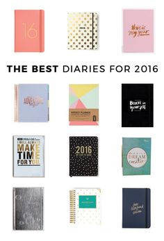 The best diaries for 2016 // Which do you like best?