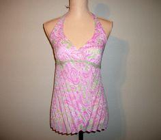 Halter Top Size Medium Pink Sleeveless Top Boho by MintJulepShoppe