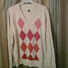 Sweater Argyle Sonoma Sweaters V-Necks