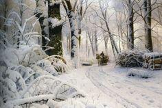 Peder Mørk Mønsted  wood in snow