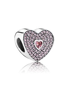 d4c3187a46aaf1 Pandora  Pandora Heart Silver Charm ! Pandora Sale