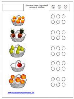 Ideias e Materiais do Jardim: Fichas com Frutas