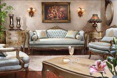 Gorgeous antique living room. Stunning decor.