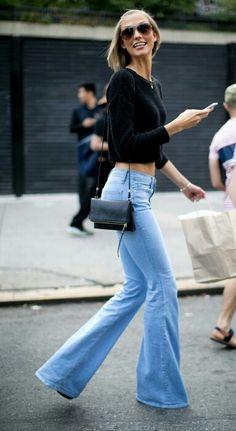 High Waist Flare jeans.♡