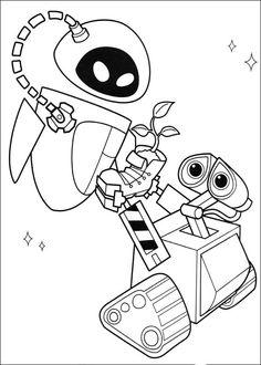 Wall-E Tegninger til Farvelægning. Printbare Farvelægning for børn. Tegninger til udskriv og farve nº 24